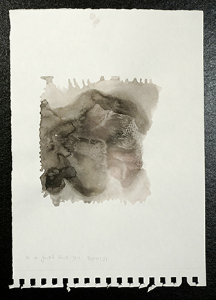 """It is just this VII."" Monoprint with watercolor and sumi ink, 9 in. x 12.75 in. $100"