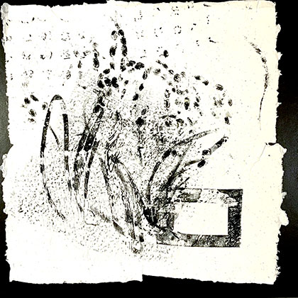 ink on handmade recycled paper
